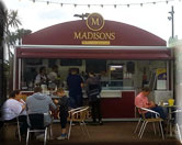 Madisons for tea, coffee , waffles, donuts & ice cream.